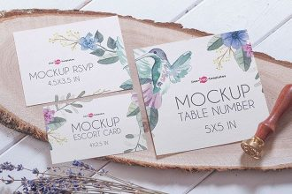 Free Invitation Mock-up in PSD