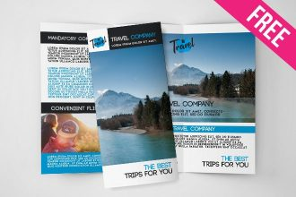 Free Travel Tri-Fold Brochure in PSD