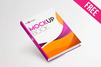 Free Book Mock-up in PSD