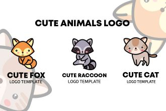 Cute Animals Logo