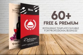60+ FREE & PREMIUM RESTAURANT TEMPLATES SUITABLE FOR PROFESSIONAL BUSINESS!