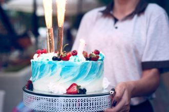 Free Cake and Champagne Birthday Stock Photos Set!