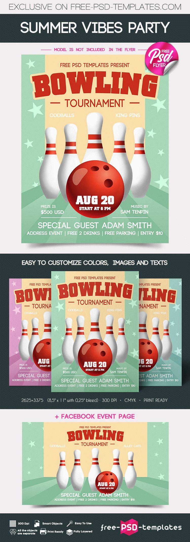 Free Bowling Tournament Flyer Free Psd Templates