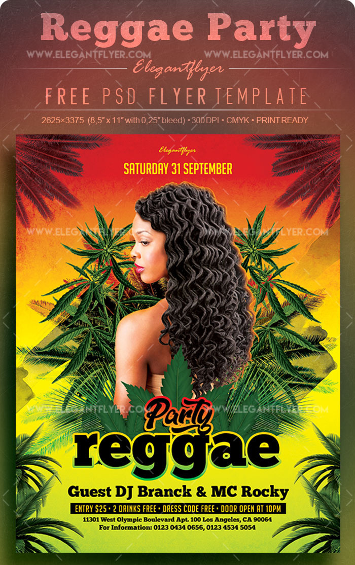 70premium free flyer templates in psd download and customize reggae party free flyer psd template maxwellsz