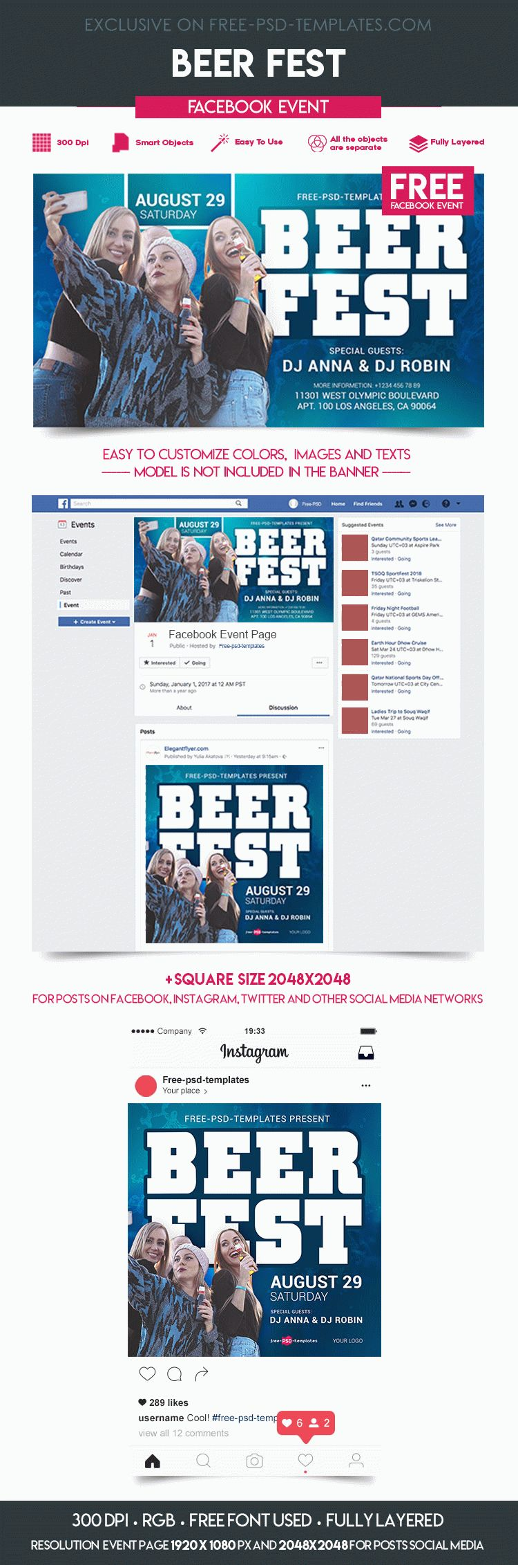 Free Beer Fest Facebook Event Page Free Psd Templates