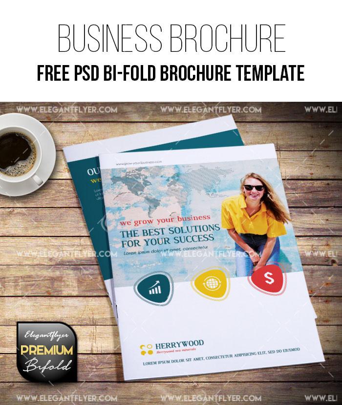 79premium and free psd tri fold bi fold brochures templates for free bi fold brochure psd template download wajeb Image collections