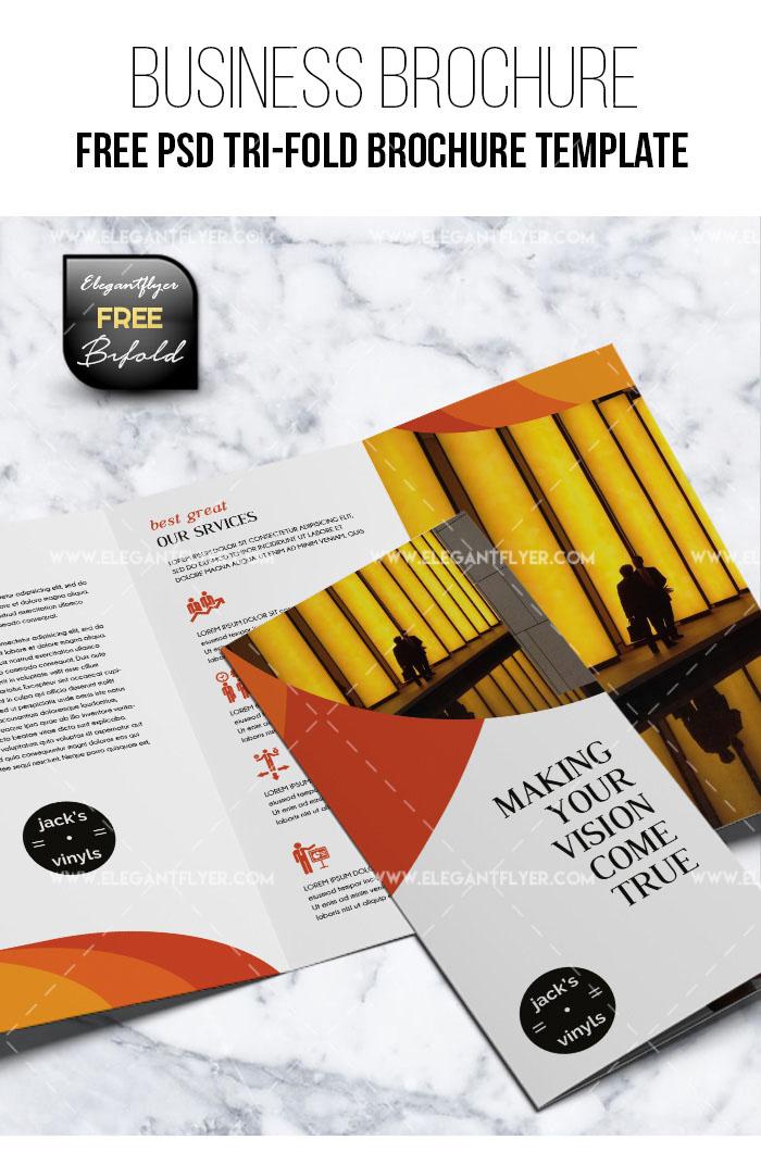 free tri fold brochure psd template