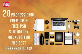 20 Professional Premium & Free PSD Stationary Mockups for the Best Presentations!