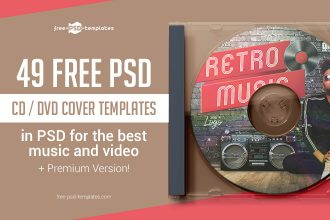 49 FREE PSD CD/ DVD Cover Templates in PSD for the best music and video + Premium Version!