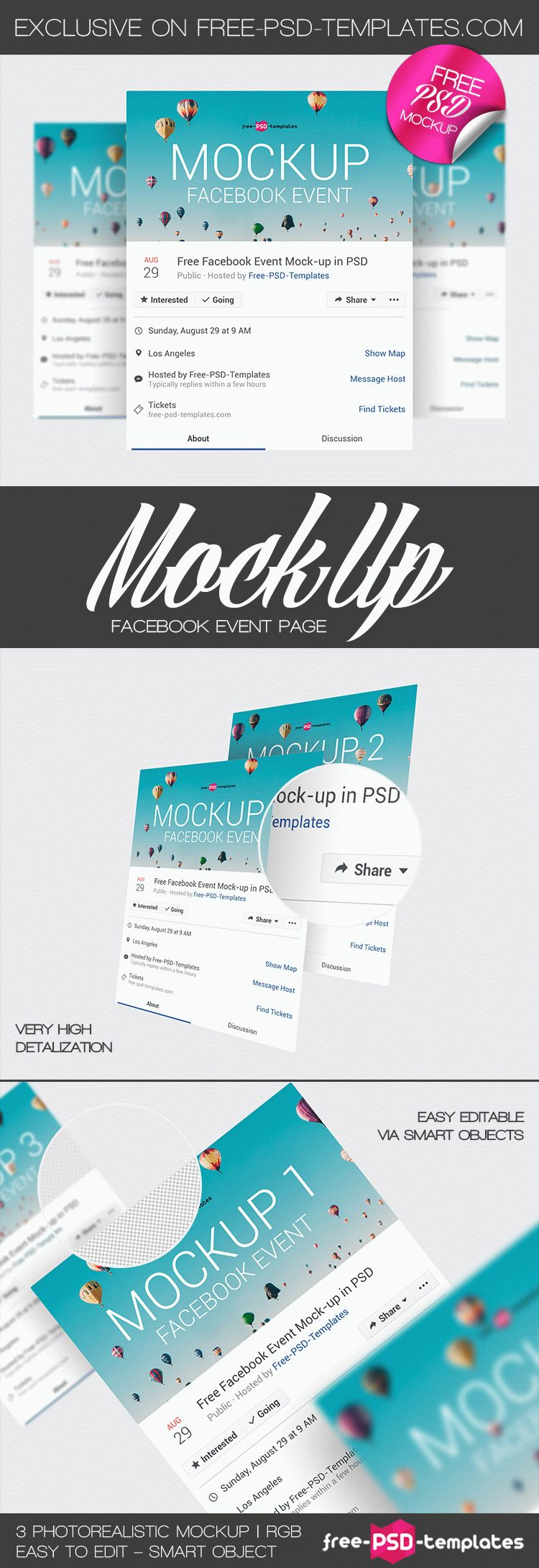 3 Free Facebook Event Page Mock Ups In Psd Free Psd Templates