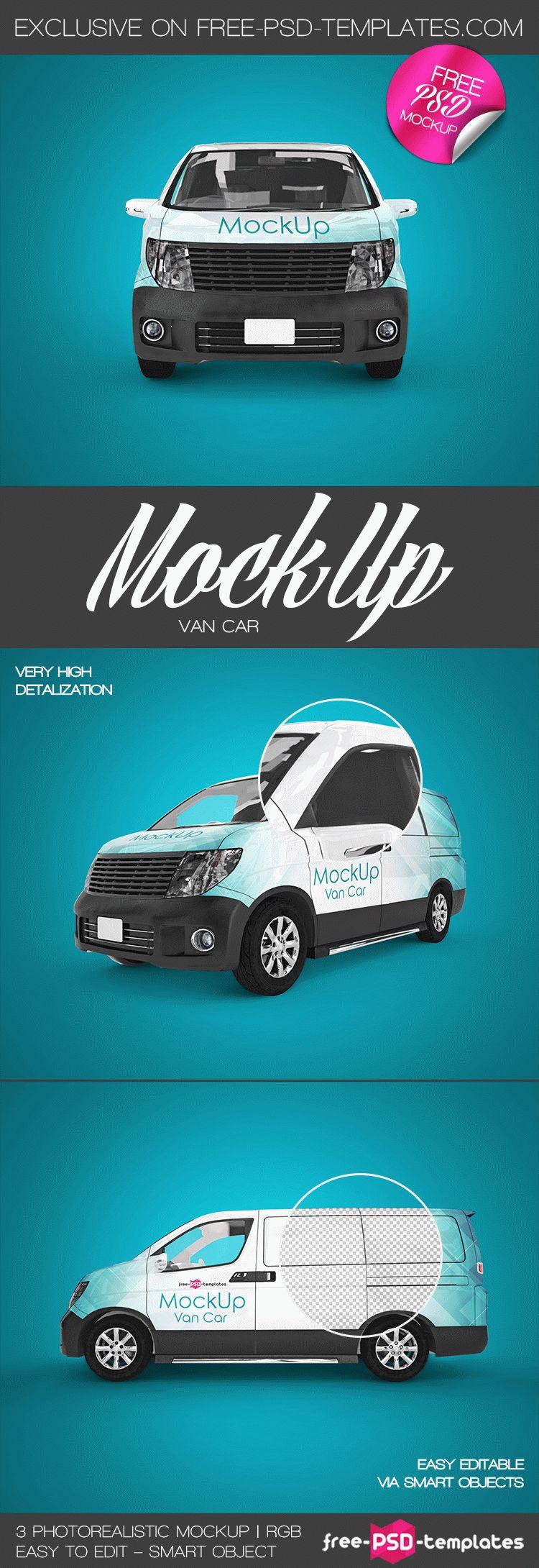 Free Van Car Mock Up In Psd Free Psd Templates