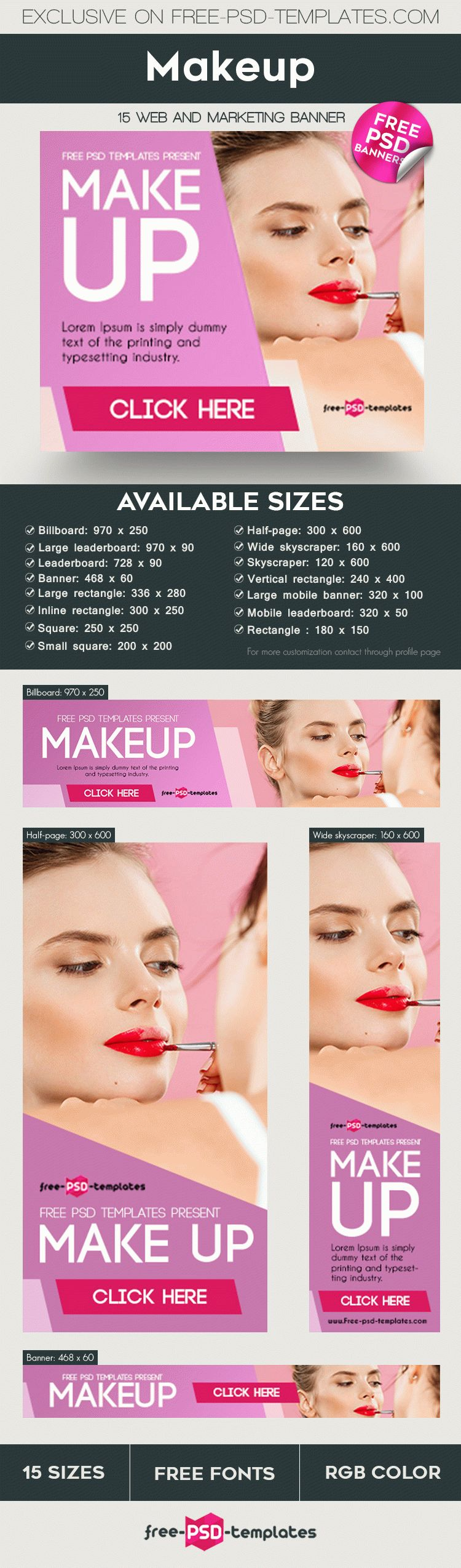 15 Free Makeup Banners Collection In Psd Free Psd Templates