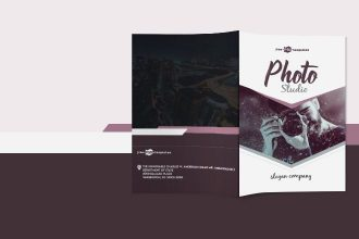 Free Photo Studio Bi-Fold Brochure in PSD