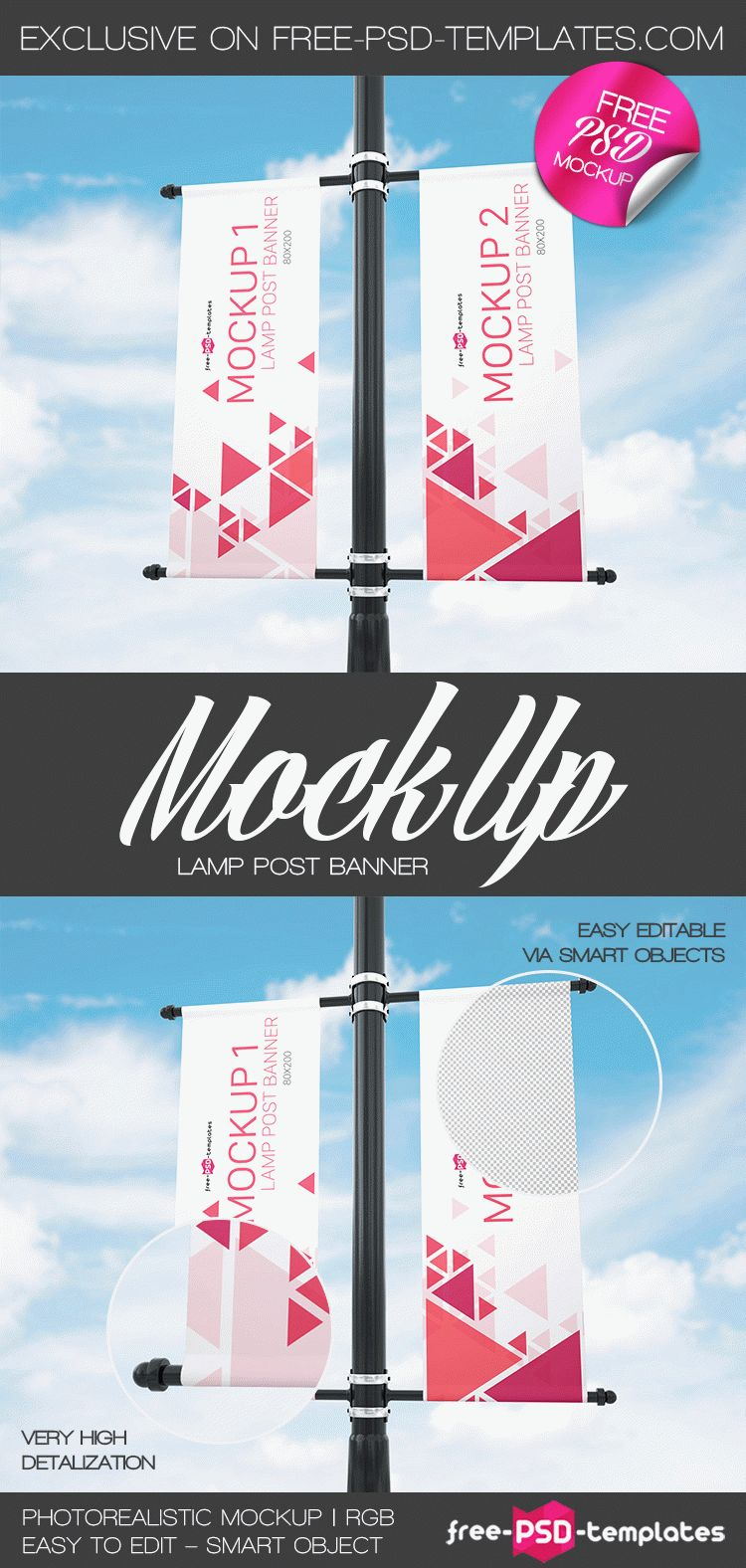 Lamp Mock In Free PsdTemplates Up Post Banner nP8OvNym0w