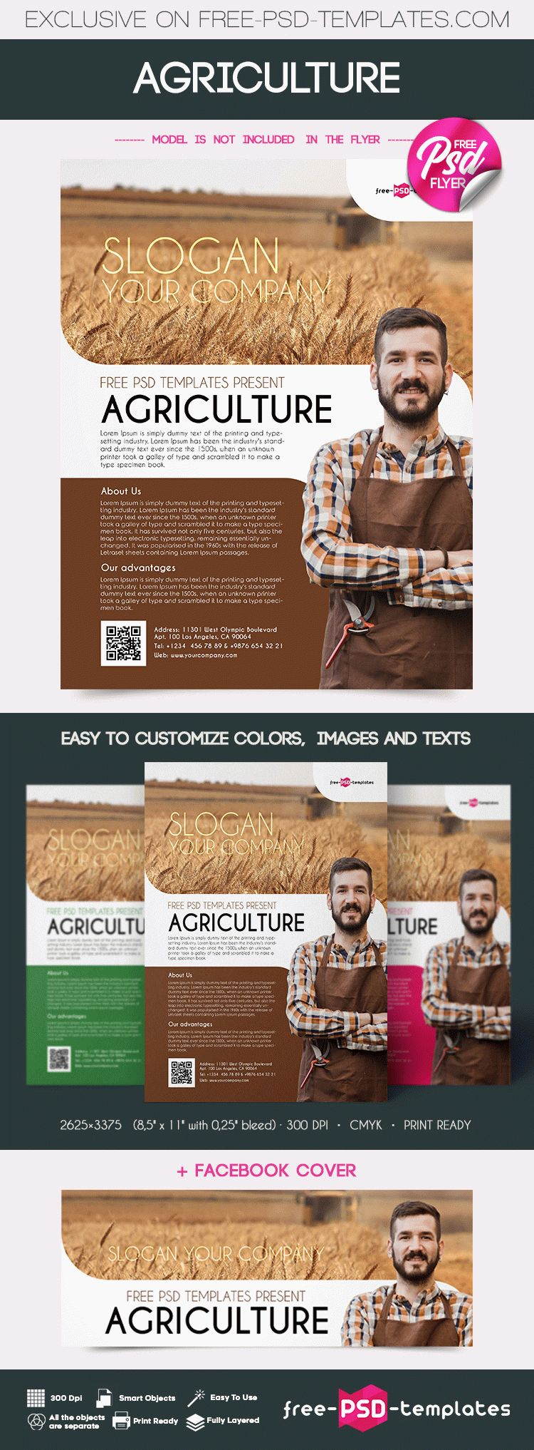 the template is fully layered and well organized you are free to download this psd template and modify it the way you wish - Agriculture Brochure Templates Free