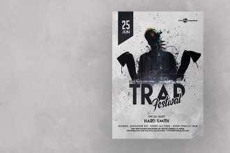 Free Trap Festival Flyer in PSD