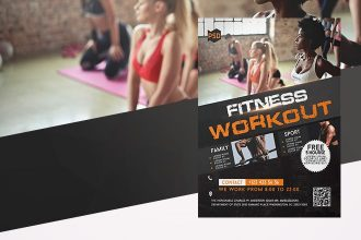 Free Fitness Workout Flyer in PSD