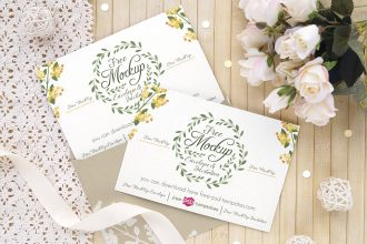 3 Free Wedding Invitation Card Mockups