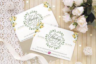 3 Free Wedding Invitation Card Mockups