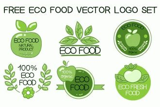 Free Eco Food Vector Logo Set