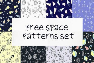 Free Space Patterns Vector Set