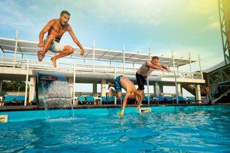 Free Pool & Sunset Stock Photos