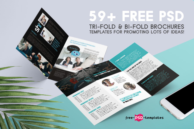 69 premium and free psd tri fold bi fold brochures templates for