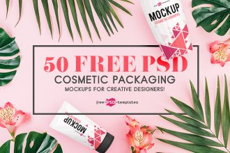 50 Free PSD Cosmetic Packaging Mockups for creative designers!