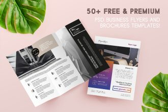 50+ FREE & PREMIUM PSD BUSINESS FLYERS + BROCHURES TEMPLATES!