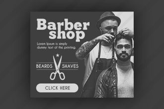15 Free Barbershop Banners Collection in PSD