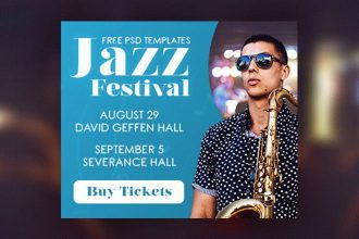 15 Free Jazz Festival Banners Collection in PSD
