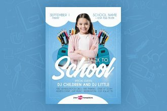 Free Back To School Flyer in PSD