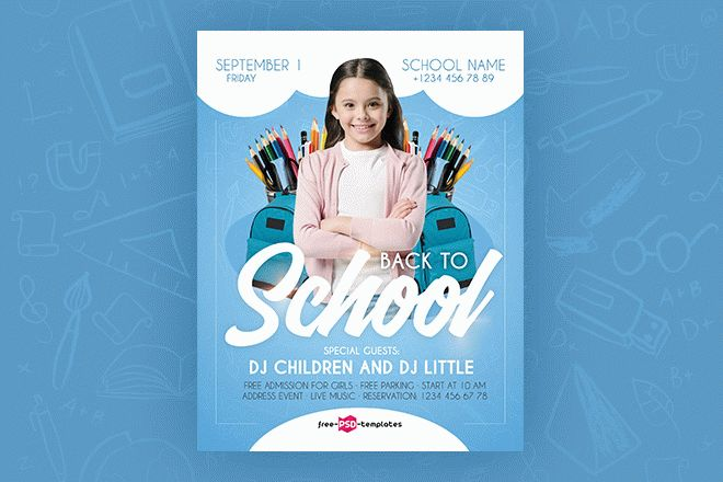 Free Back To School Flyer In Psd Free Psd Templates