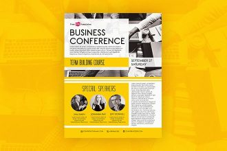 Free Business Conference Flyer in PSD