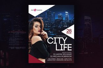 Free City Life Flyer in PSD