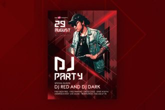 Free DJ Party Flyer in PSD