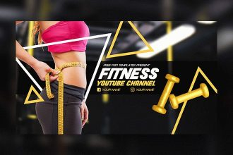 Free Fitness YouTube Channel Banner