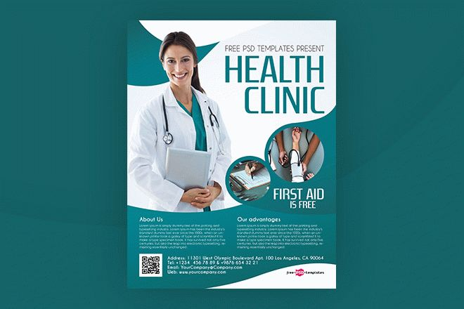 Free Health Clinic Flyer In Psd Free Psd Templates
