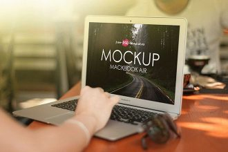 Free MacBook Air Mock-up in PSD