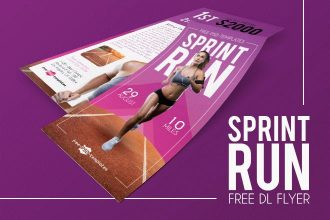 Free Sprint Run DL Flyer in PSD