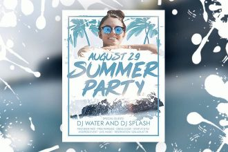 Free Summer Party Flyer in PSD