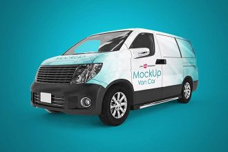 3 Free Van Car Mockup in PSD