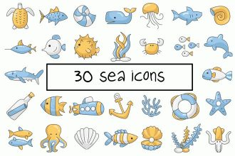 30 Free Sea Vector Icons