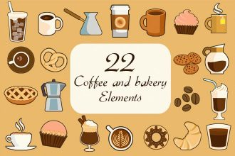 Free 22 Coffee and Bakery Elements