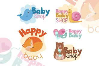 Free Baby Shop Vector Logo Set