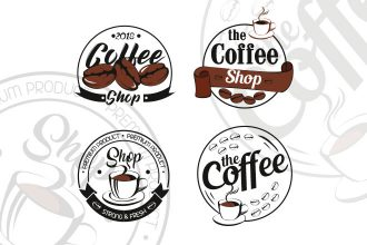 Free Coffee Shop Logo Set