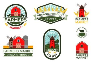 Free Farmers Vector Logo Set