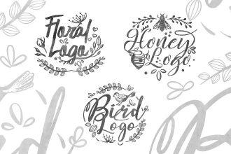 Free Floral Logo Set