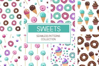 Free Sweets Seamless Patterns