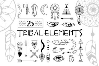 Free 25 Tribal Elements